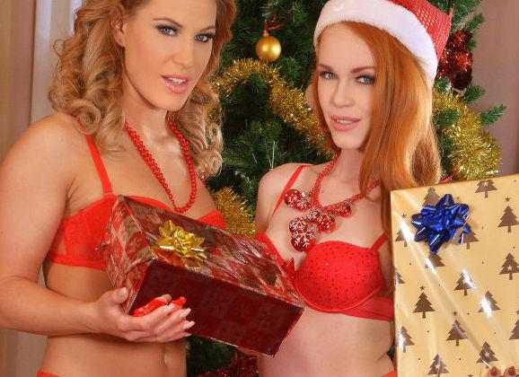 lesbische seks op Kerstmis