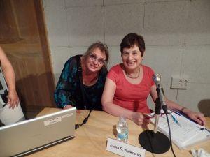 Judith Walkowitz op de COST conferentie (rechts)