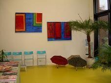 Interieur gezondheidscentrum in Antwerpen, dit diende als voorbeeld voor Amsterdam
