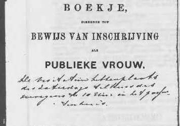 Prostitutie in het 19de eeuwse Zwolle, deel 1. De reglementering