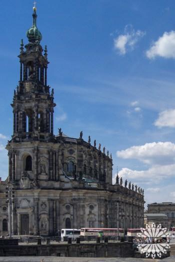 Katedra św. Trójcy w Dreźnie (niem. Kathedrale Ss. Trinitatis); Saksonia, Niemcy.