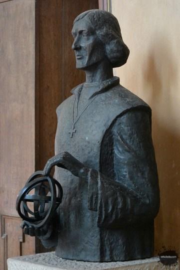 Popiersie Mikołaja Kopernika z fromborskiej katedry