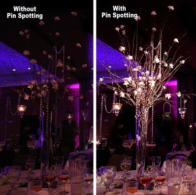 Pin Spotting SEK Wedding Lighting