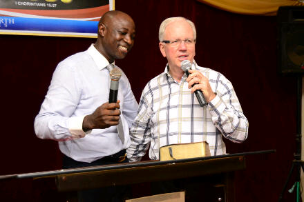 That's my mentor and pastor, Rev Sam Rotimi Osoba and Rev. Dr. Larry Titus from U.S.A