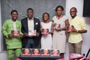Mr Ope Ashubiojo-Pastor Kunle Soriyan-Funto Oni, Mrs Love- Olaleye and Bankole Williams-with Beautified Author Funto