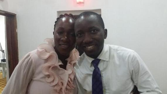 Yetunde Joyce with Sweet Steve at Orange 94.5 fm