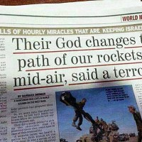 """Their God Changes The Path Of Our Rockets In Mid-Air"" - Hamas Missile Diverted From Striking Israel By 'Strong Wind'"