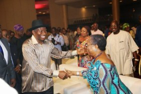 President Goodluck & Onyeka Onwenu