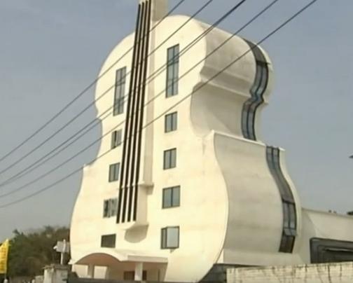 Giant Violin Shaped Church