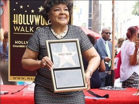 Shirley Caesar honoured, hollywood walk of fame