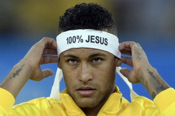 Neymar Wore 100% Jesus