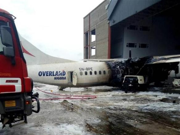 READ: Overland Aircraft Catches Fire At Murtala Muhammed Airport