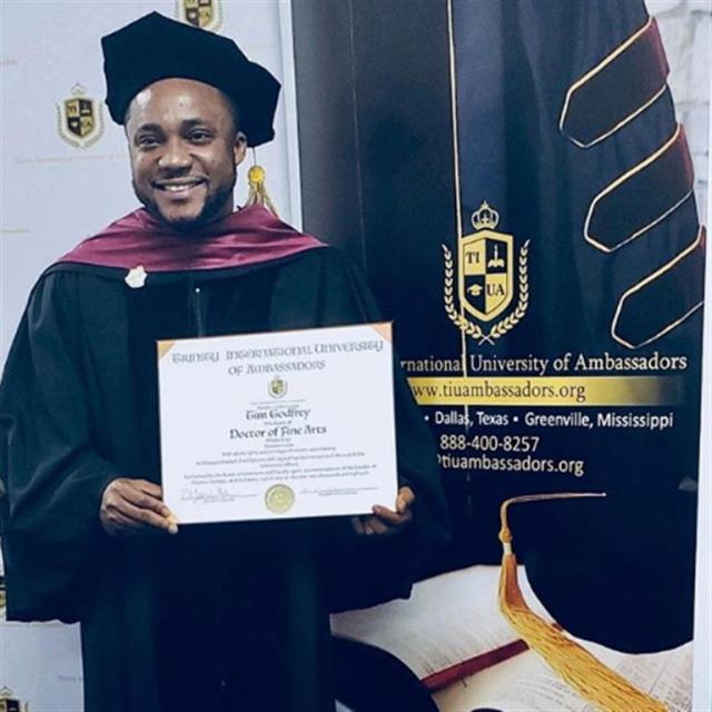 Godfrey Receives Doctorate