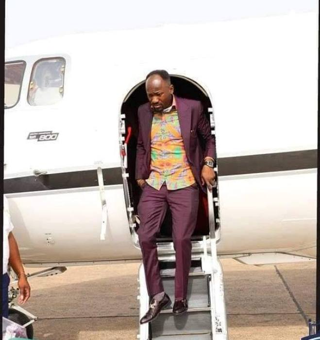 Apostle Suleman's Private Jet: Between Daddy Freeze, Reno Omokri & Bishop Oyedepo