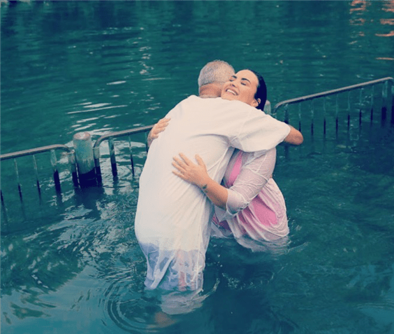 Demi Lovato Baptized
