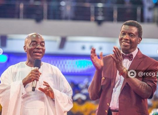 Pastor Adeboye Celebrate With Bishop Oyedepo At Canaanland On 40th Anniversary