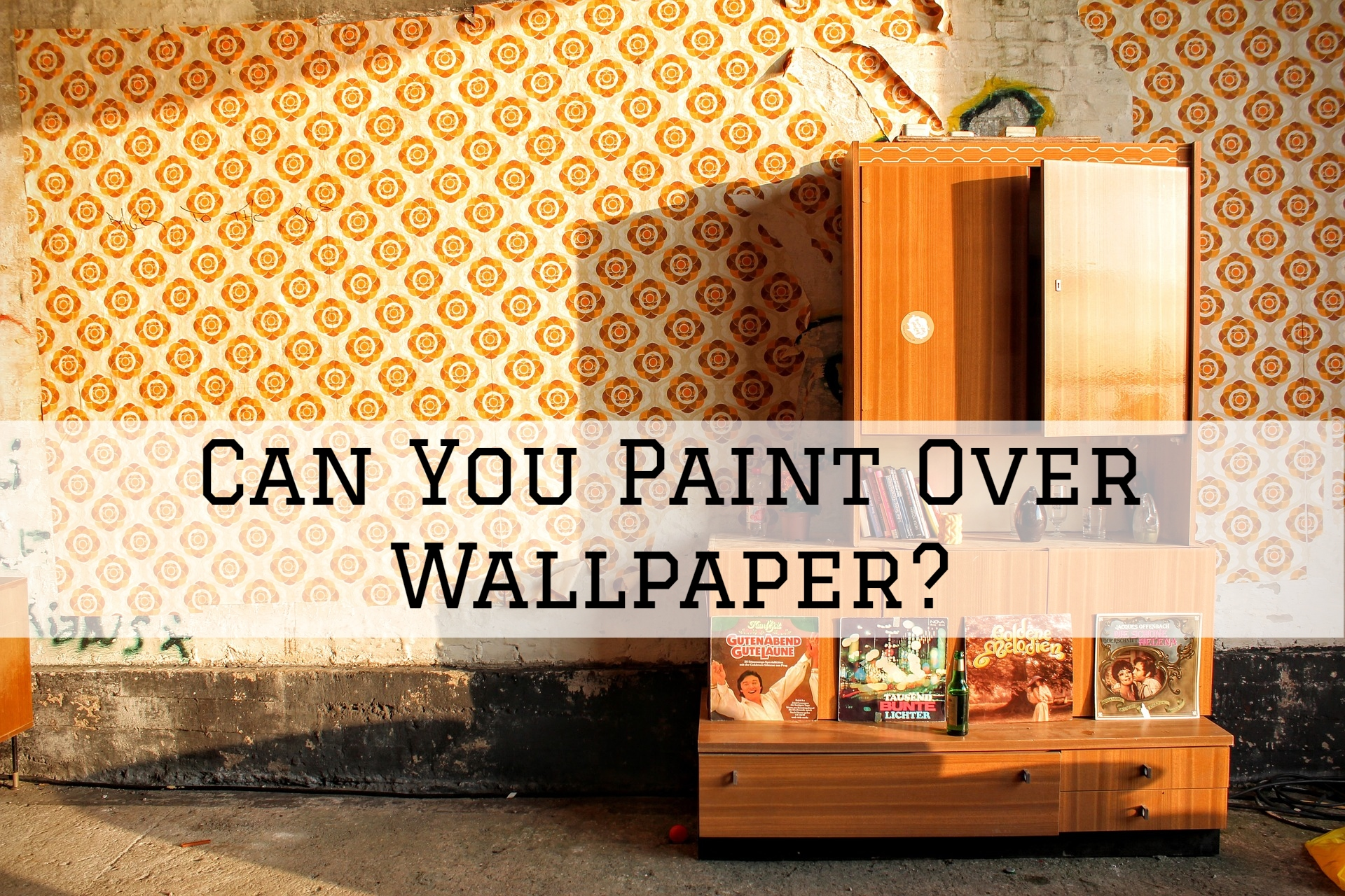 Can You Paint Over Wallpaper In St Louis Mo Selah Painting