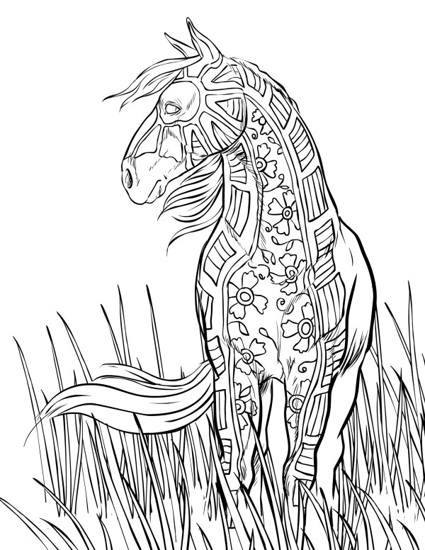 horse coloring pages free # 10