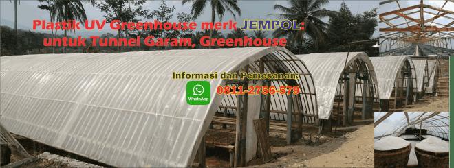 Plastik UV Greenhouse untuk Tunnel Garam