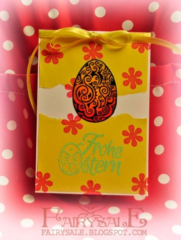 create an easter card with double embossing