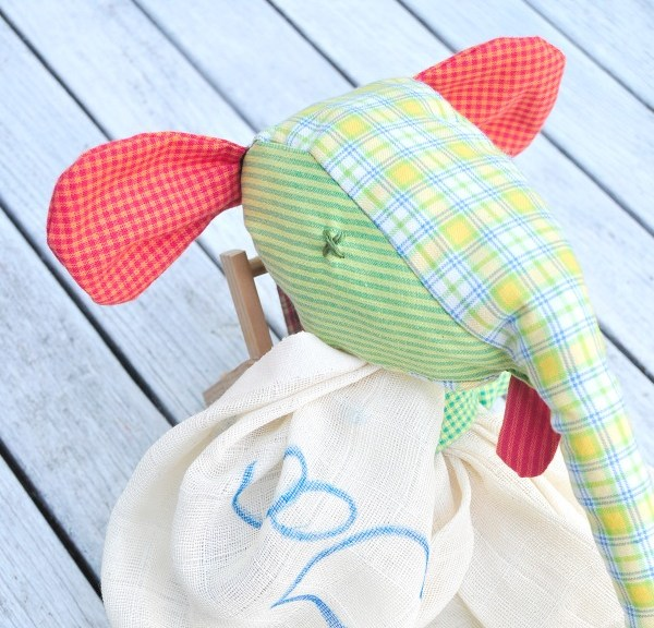 custom pattern baby toy elephant