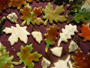 Plätzchen, Herbst. herbstlich, Mürbteig-Kekse, Blätter, Eicheln, Ausstechkeks, Ausstechplätzchen