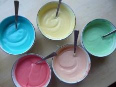 Rezept Regenbogen Topfenkuchen, rainbow cheesecake, bunter Käsekuchen