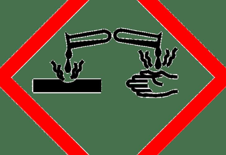 Gefahrsymbol ätzend