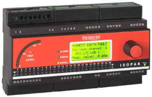 ISOPAK118 AC Ground Fault Monitor, Output Relay, Analog Output (18 Channels)