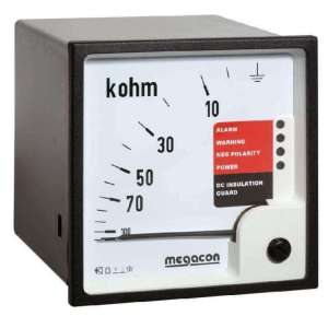 KPM169 Insulation Monitor for DC Systems 200-400VDC, 10k-5MOhm Scale, Output Relay, optional Analog Output