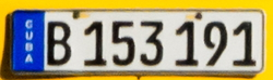 Government / Regular plate (taxi)