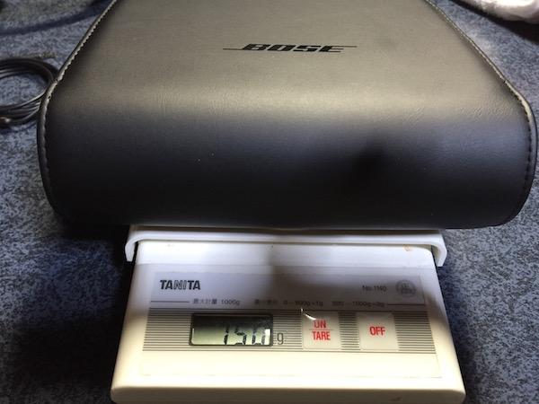 SoundTrue AE IIのポーチの重さ