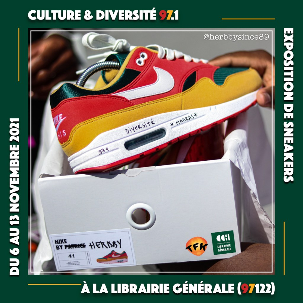 """The """"Culture & Diversité 97.1"""" sneakers exhibition by Herbby"""