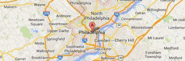 Philadelphia Pennsylvania Map