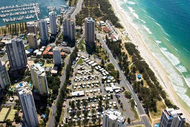 gold coast car park 1 - シドニー、メルボルン、ブリスベンほかオーストラリア主要都市の無料or格安駐車場マップ全公開!