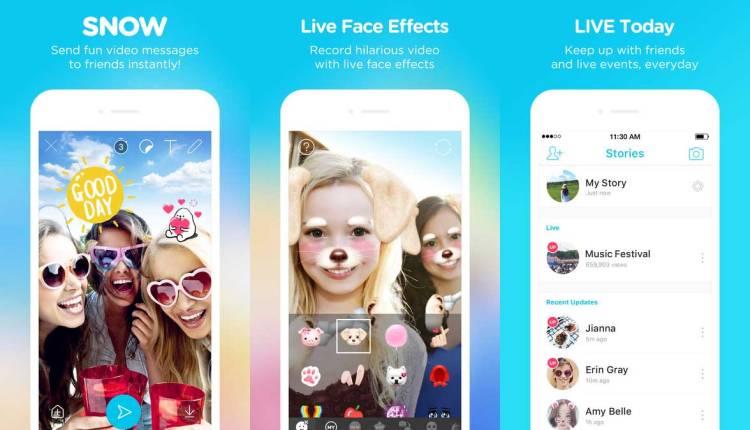 人気自撮り&顔認識スタンプ・アプリSNOWの使い方がすぐ分かる!アイコン・機能早見表