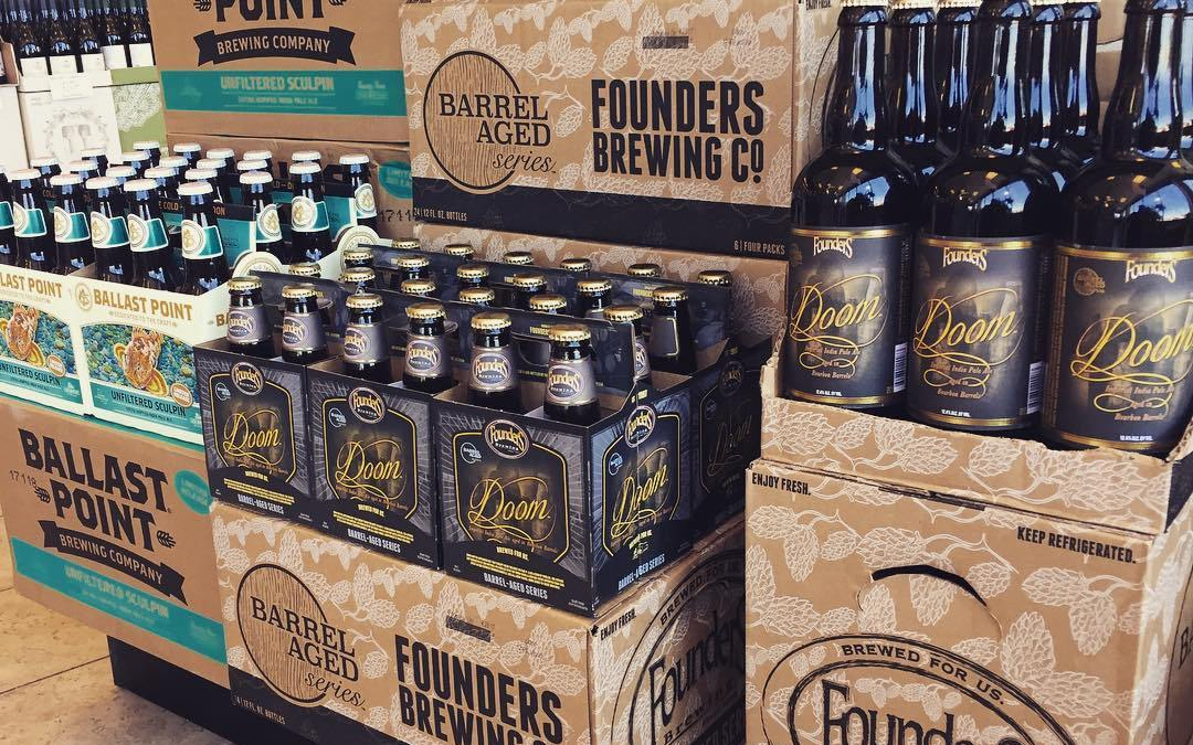 @foundersbrewing Doom and @ballastpointbrewing Unfiltered Sculpin are now available at our Perkins Rd location in…