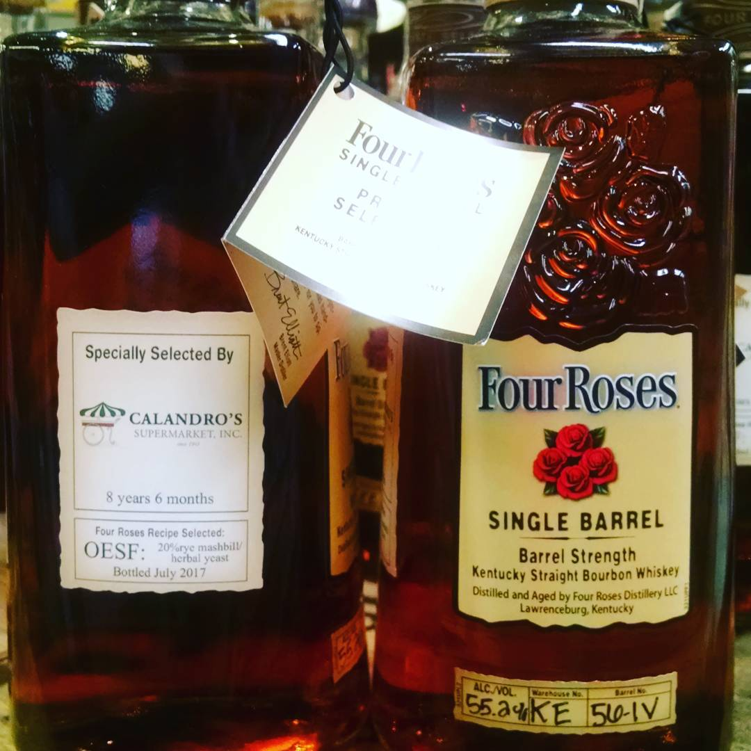 It's here!! We finally got another single barrel Four Roses, and its barrel strength! @fourrosesbourbon…