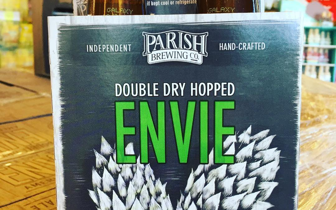 @parishbrewingco DDH Envie with Galaxy is now in stock at our Perkins Rd location! Limit…