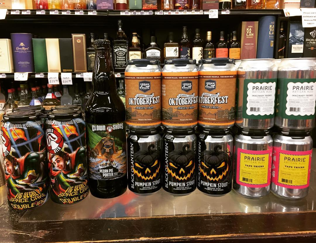 New brews in stock at our Perkins Rd location! @clown_shoes_beer @urbansouthbeer @prairieales @wasatchbeers #beer #newbrews…