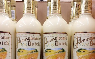 #OldStyle Pennsylvania Dutch Egg Nog made with real dairy cream, Rum, Brandy, & Blended Whisky….