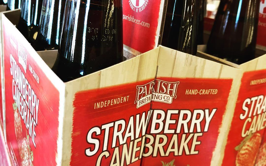 @parishbrewingco Strawberry Canebrake is now available at our Perkins Rd location! #beer #drinklocal #louisianastrawberries #wheresspring…