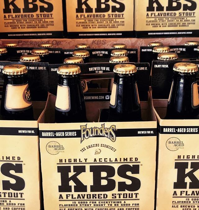 @foundersbrewing KBS just arrived at our Mid-City location! #BarrelAged #Beer