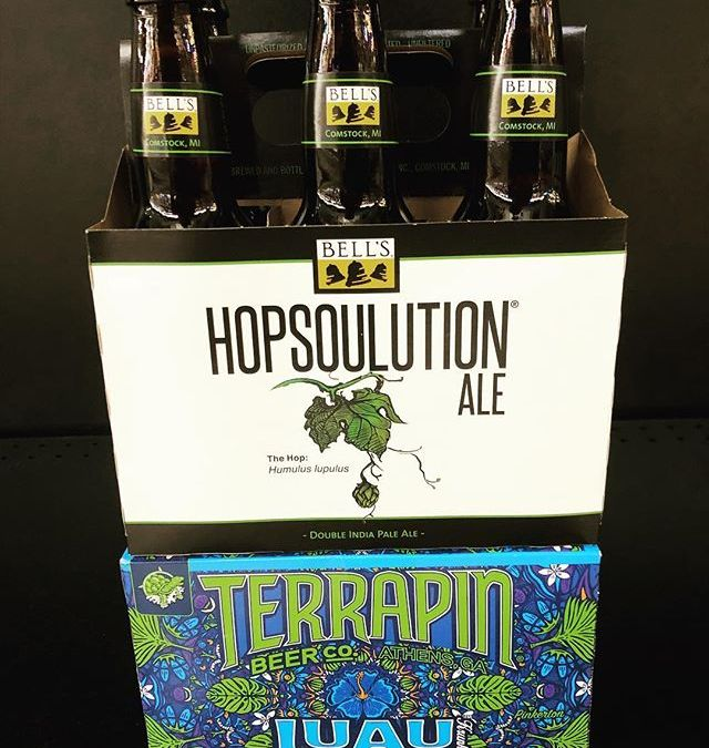 @bellsbrewery Hopsoulution Double IPA and @terrapinbeerco Luau, passion fruit- orange- guava IPA are both now…