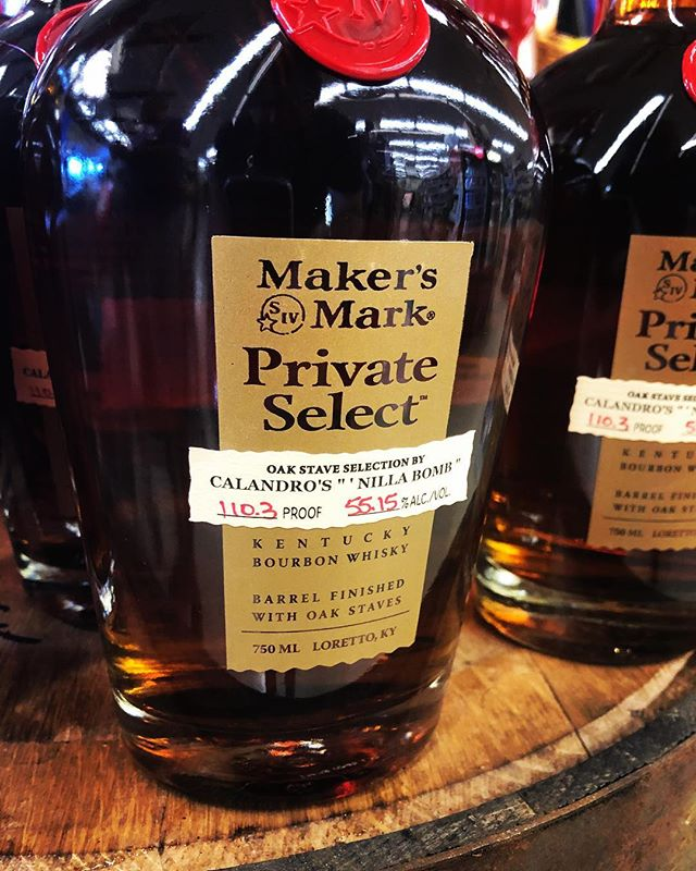 """Our @makersmark Private Select Barrel, aptly named """"Nola Bomb, is now in stock! Bursting with…"""