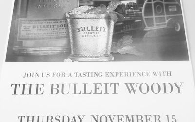 "The @bulleitwhiskey ""Woody"" will be at our Perkins Rd location from 3-5 today! Come check…"
