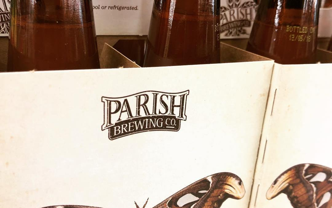 @parishbrewingco Atticus Atlas is now available at our Mid-City location! #beer #drinklocalbeer #freshhops