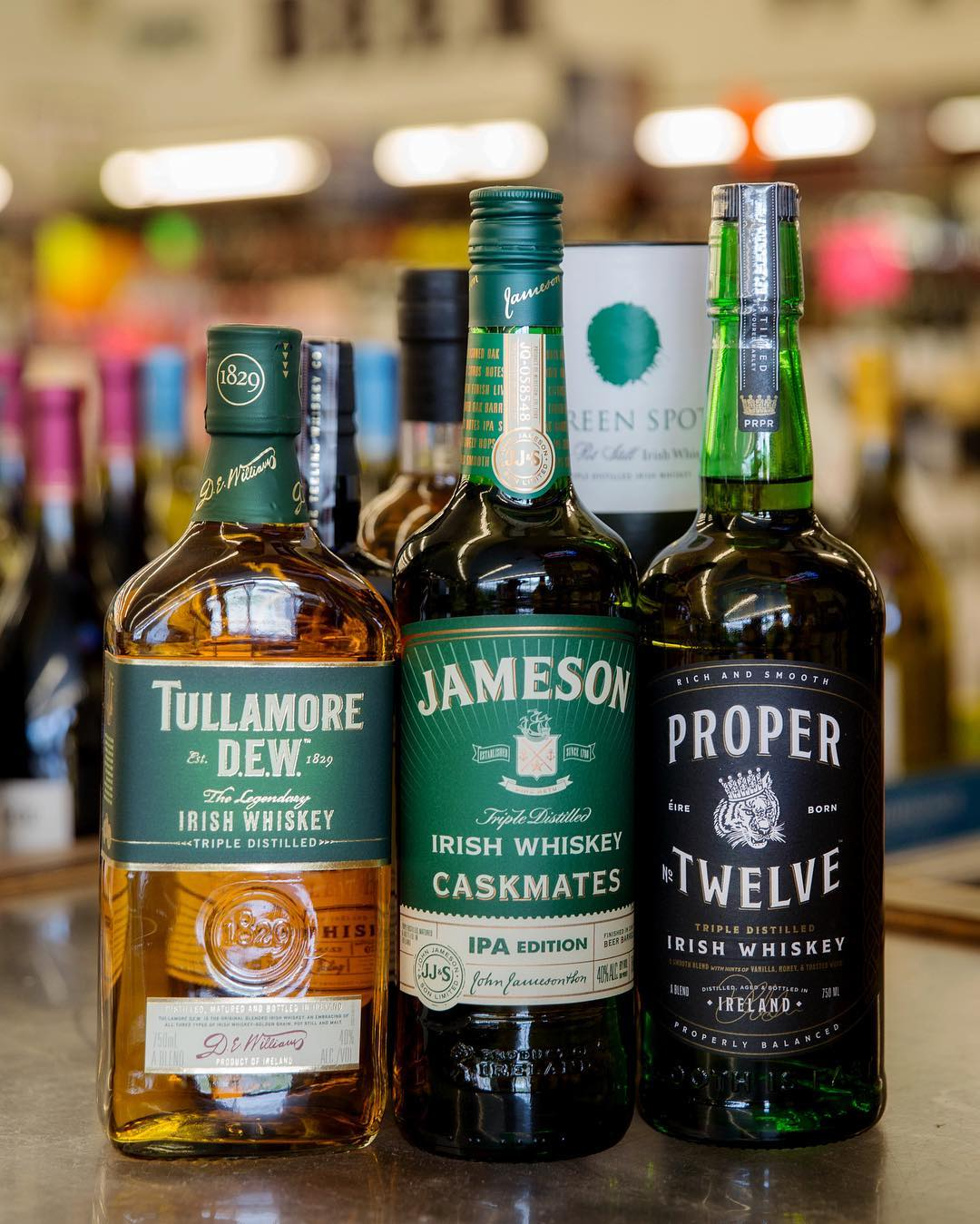 Come browse Calandro's extensive whiskey selection before the #stpattysday festivities this weekend. We've got these…