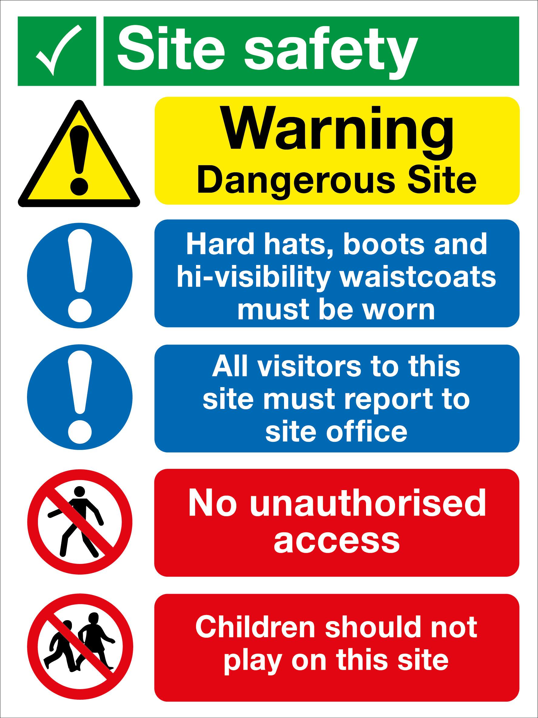 Signs Amp Labels 800x600mm Site Safety No Children Sie