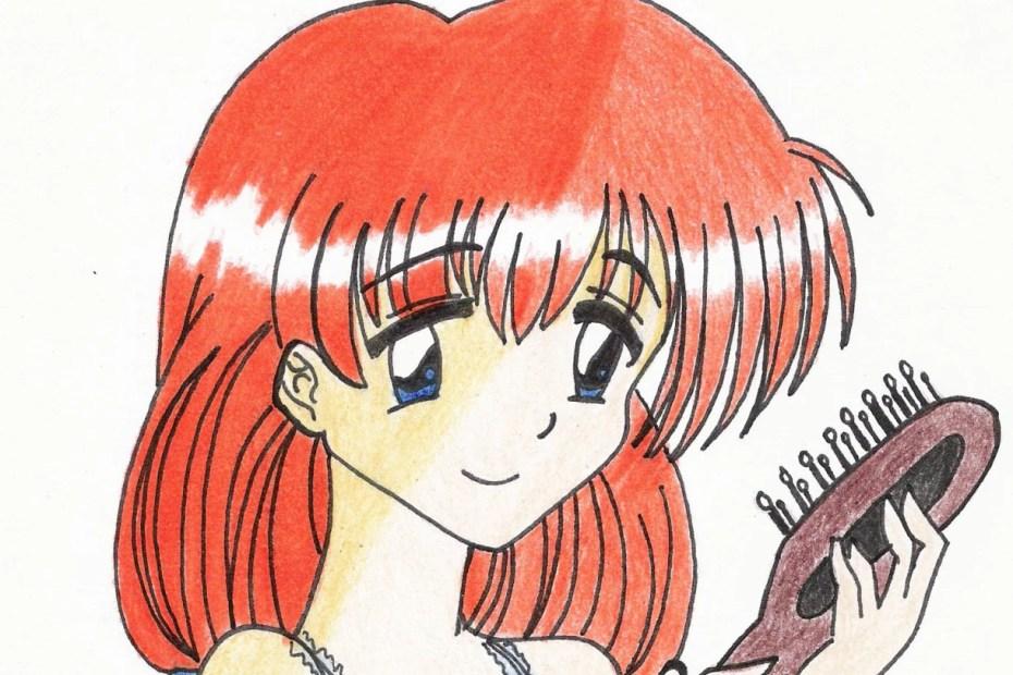 Desenho - Mulher Ruiva com Camisola - Colorido - Desenho 138 capa